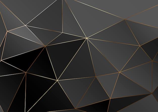 Textura poligonal de ouro. Vetor Premium