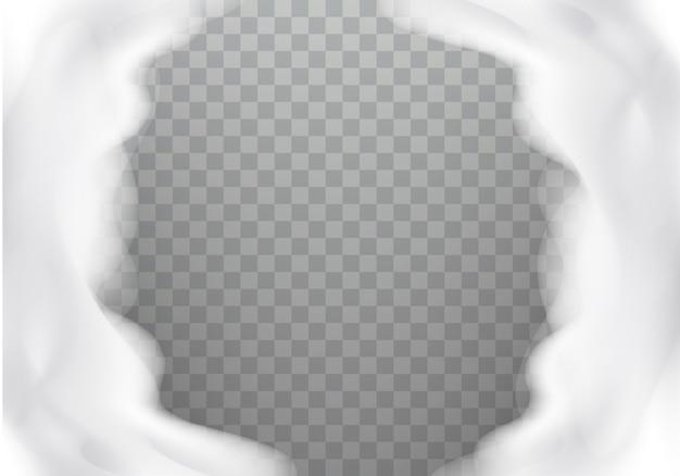 Textura realista de espuma de banho, quadro Vetor grátis
