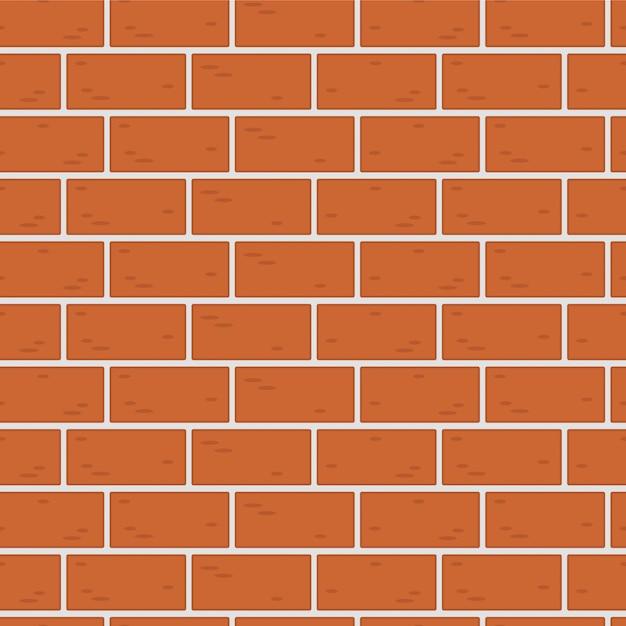 Textura sem costura padrão de uma parede de tijolos, alvenaria Vetor Premium