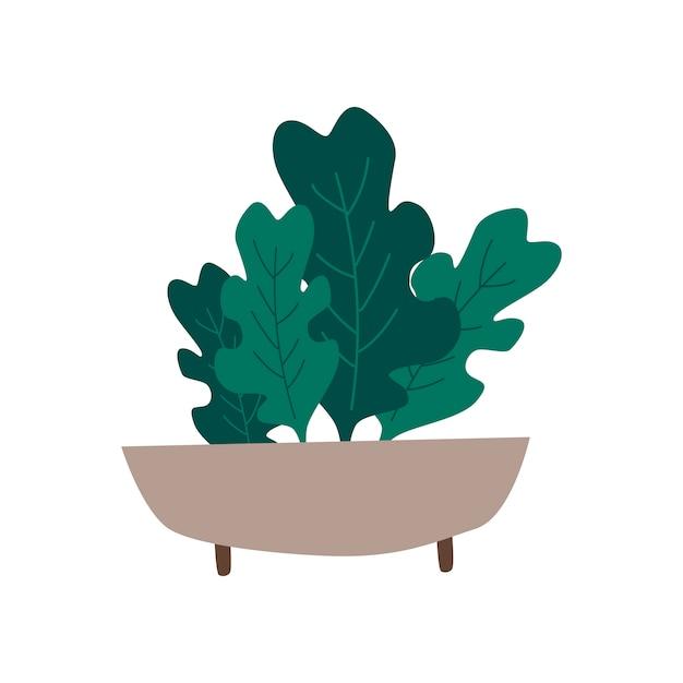 Tigela com vetor de alimentos saudáveis de verdes orgânicos Vetor grátis