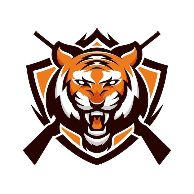 tiger animal sport mascot head logo vector baixar