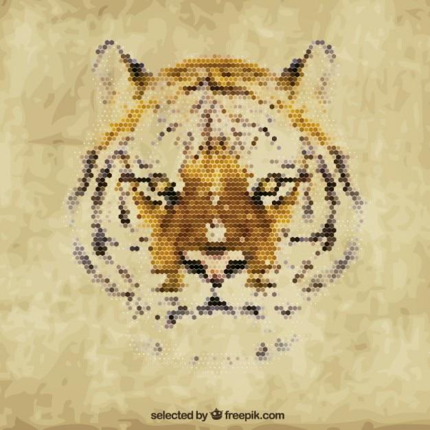 Tiger poligonal Vetor grátis