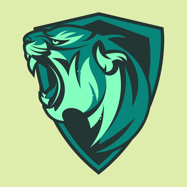 Tigre animal mascote cabeça logo de ilustração vetorial Vetor Premium