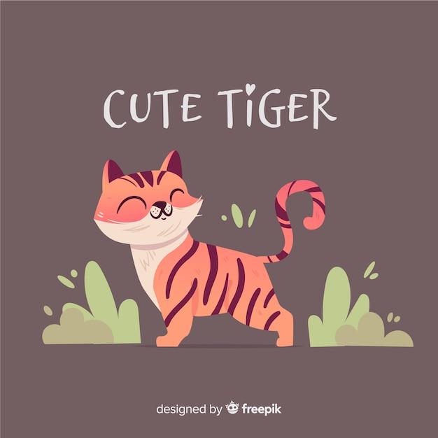 Tigre bonito Vetor grátis