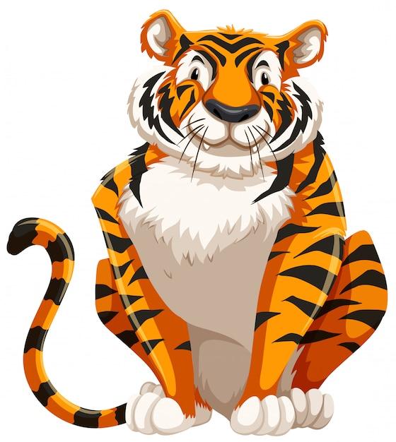 Tigre fofo Vetor grátis