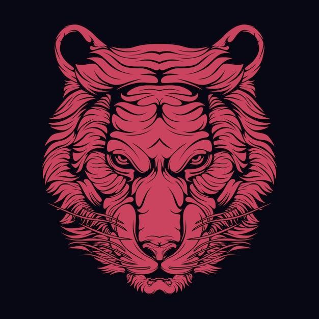 Tigre vermelho Vetor Premium
