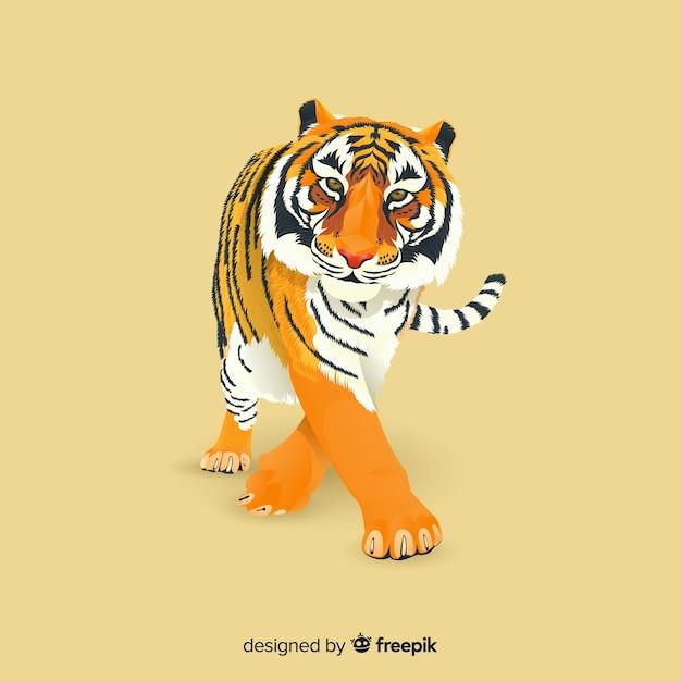 Tigre Vetor grátis