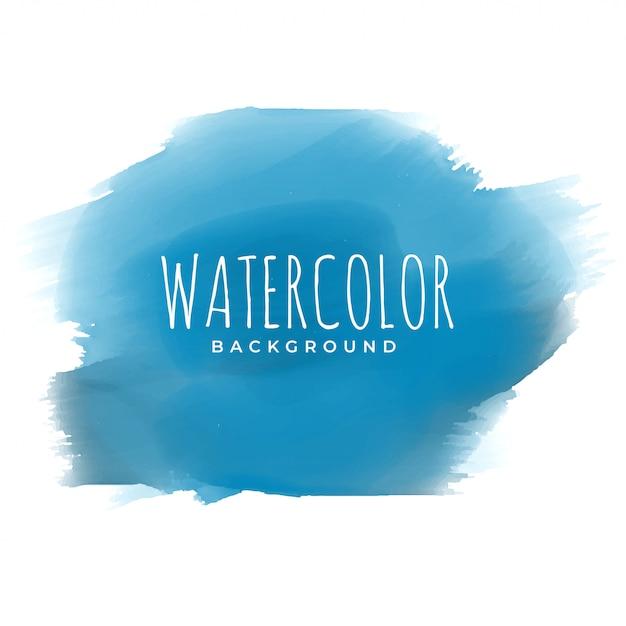 Tinta azul aquarela pincelada fundo Vetor grátis