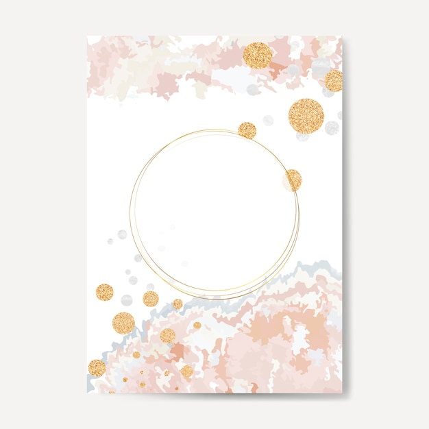 Tinta pastel derramar vetor de cartão Vetor grátis