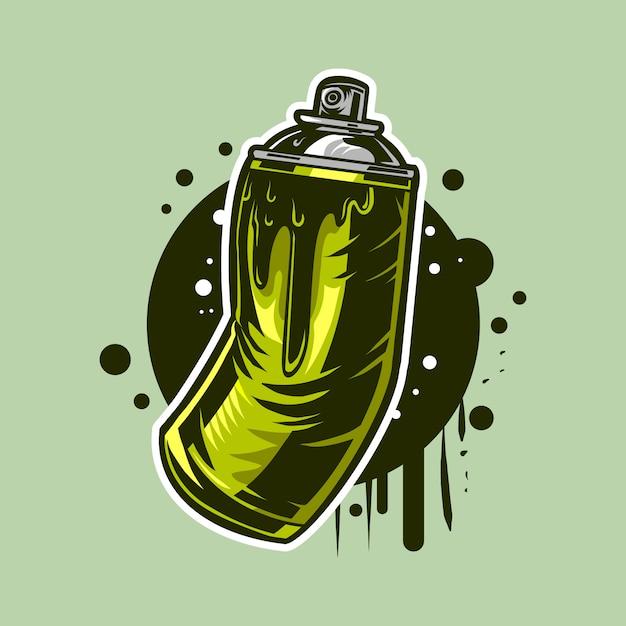 Tinta Spray Aerossol Pode Ilustração Para Desenho De Grafite