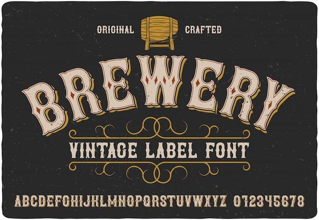 Tipo de etiqueta de cervejaria Vetor Premium
