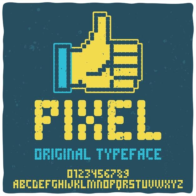 Tipo de letra do alfabeto vintage chamado pixel. Vetor grátis
