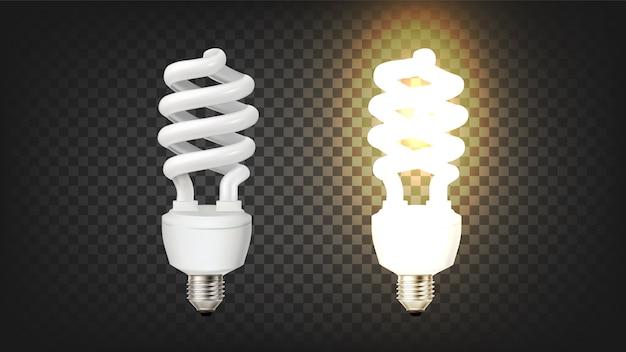 Tipo de saca-rolhas de lâmpada fluorescente compacta Vetor Premium