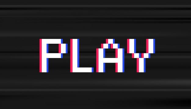 Tipo digital retro. jogo de vídeo computador stule palavra jogar Vetor Premium