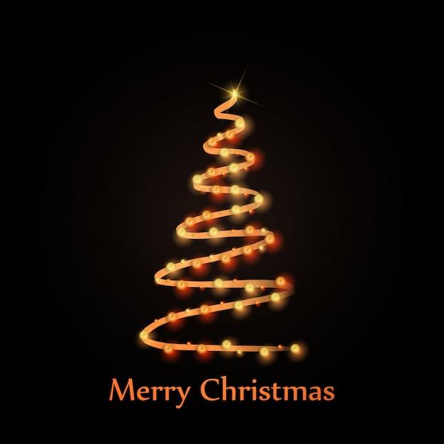 Tipografia de cartões de saudação de natal com árvore de natal Vetor grátis