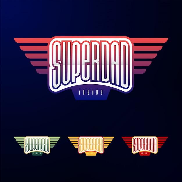 Tipografia de emblema do esporte Vetor Premium