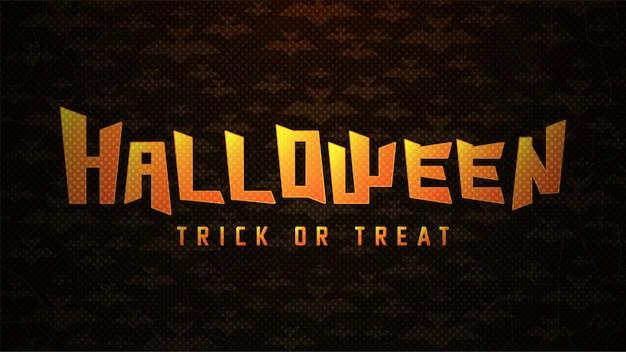 Tipografia de halloween com morcegos em abstrato Vetor Premium