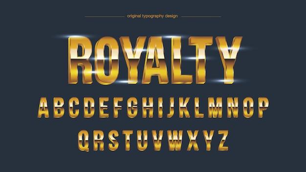 Tipografia em negrito brilho dourado Vetor Premium