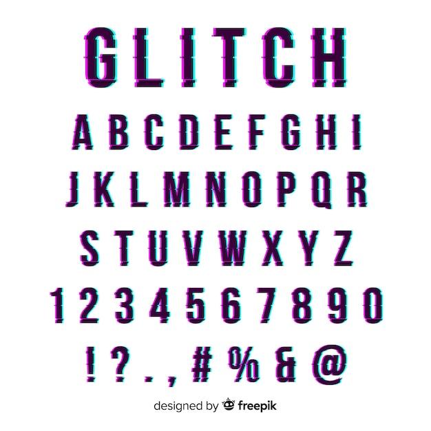 Tipografia falha Vetor grátis