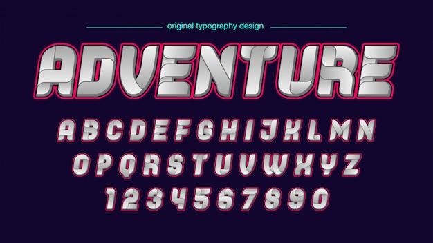 Tipografia futurista abstrata Vetor Premium