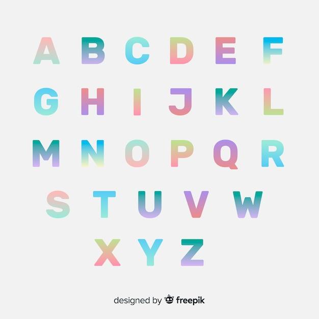 Tipografia gradiente colorida Vetor grátis
