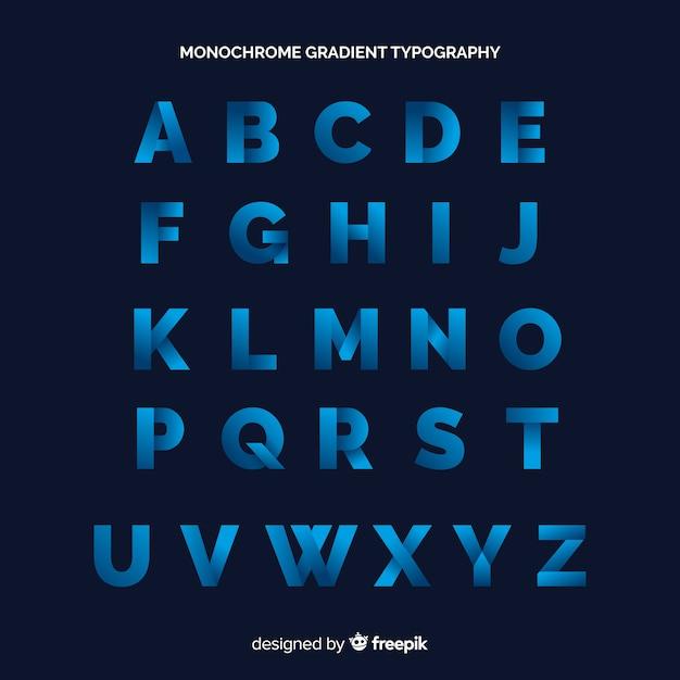 Tipografia gradiente monocromática Vetor grátis