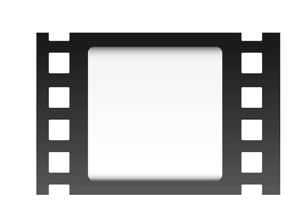 Tira de filme sobre ilustração vetorial de fundo branco Vetor Premium