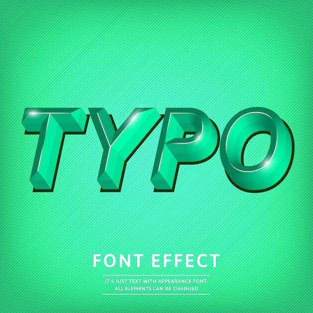 Título de efeito de texto de tipo de letra 3d Vetor Premium