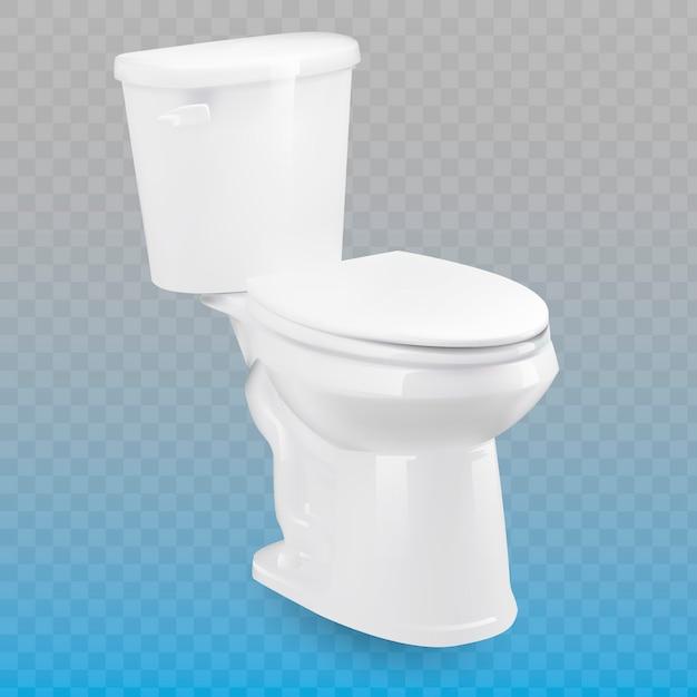 Toalete isolado no fundo transparente. Vetor Premium