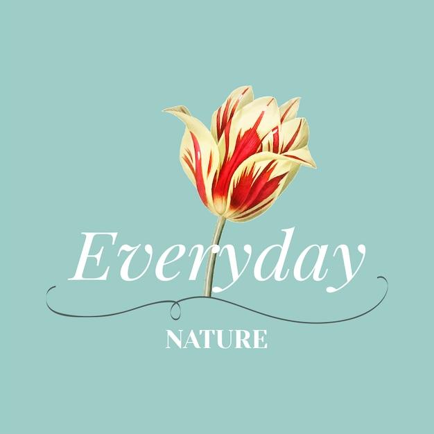 Todos os dias natureza vector design de logotipo Vetor grátis