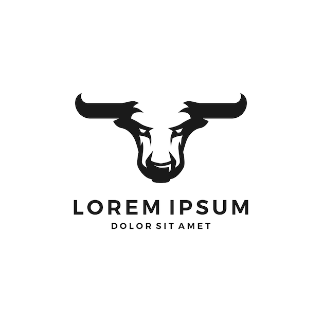 Touro do logotipo do touro el toro Vetor Premium