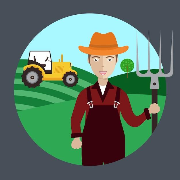 Trabalhador agricultor Vetor grátis
