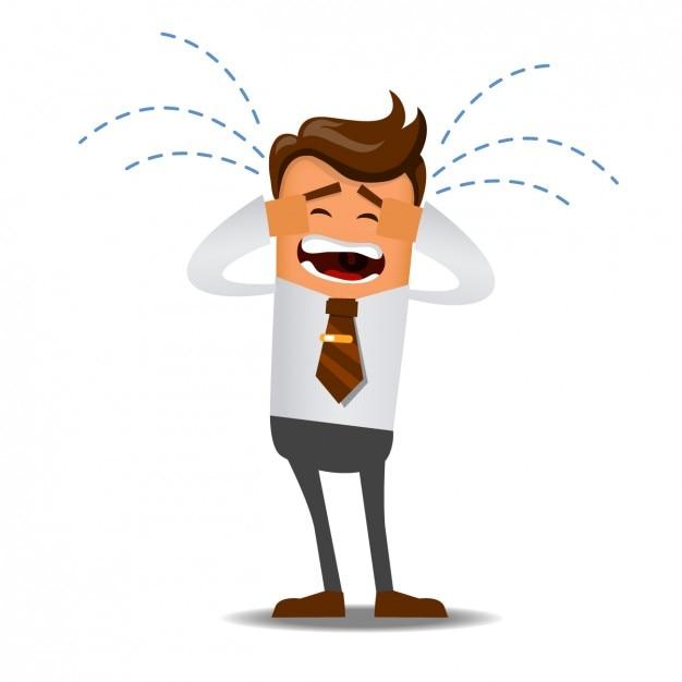 Trabalhador chorando Vetor grátis