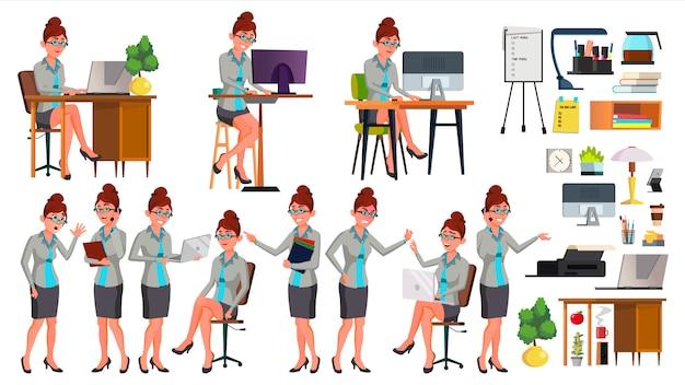 Trabalhador de escritório Vetor Premium