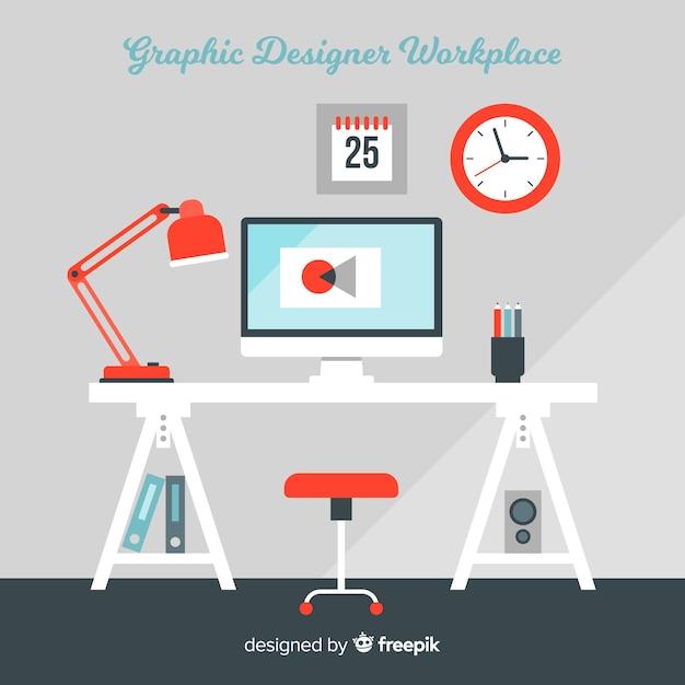 Trabalho de designer gráfico Vetor grátis