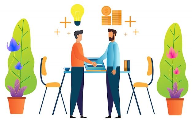 Trabalho em equipe e parceria Vetor Premium