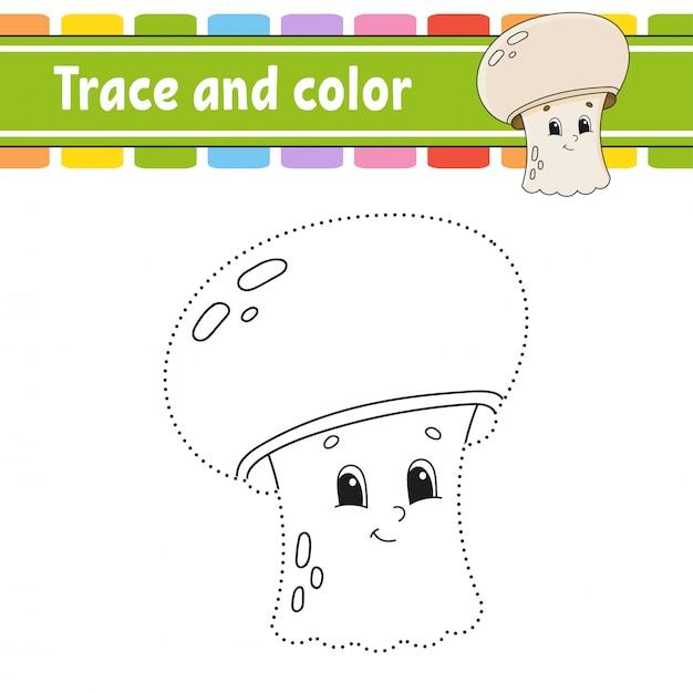 Traço e cor. Vetor Premium