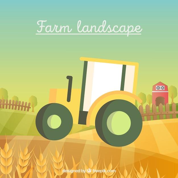 Tractor agrícola Vetor grátis