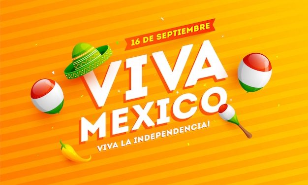 Tradução mexicana da inscrição Vetor Premium