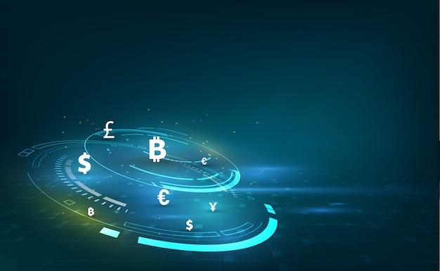 Transferência de dinheiro. moeda global Vetor Premium