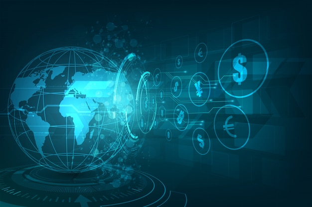 Transferência de dinheiro Vetor Premium