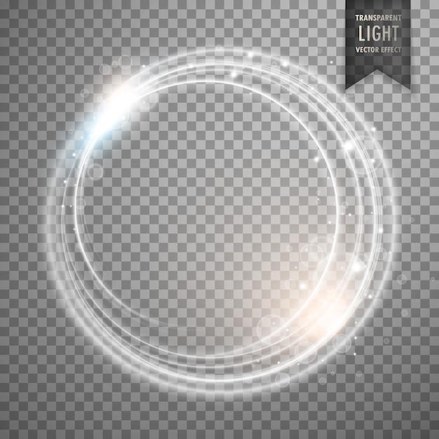 Transparente enquanto design de vetor de efeito de luz Vetor grátis