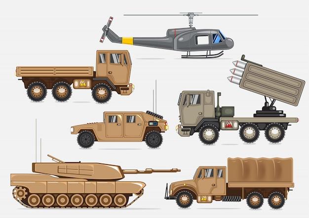 Transporte militar Vetor Premium