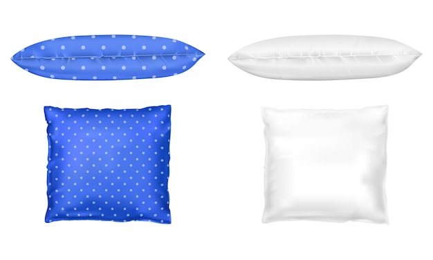 Travesseiros 3d realistas. template, mock up Vetor grátis