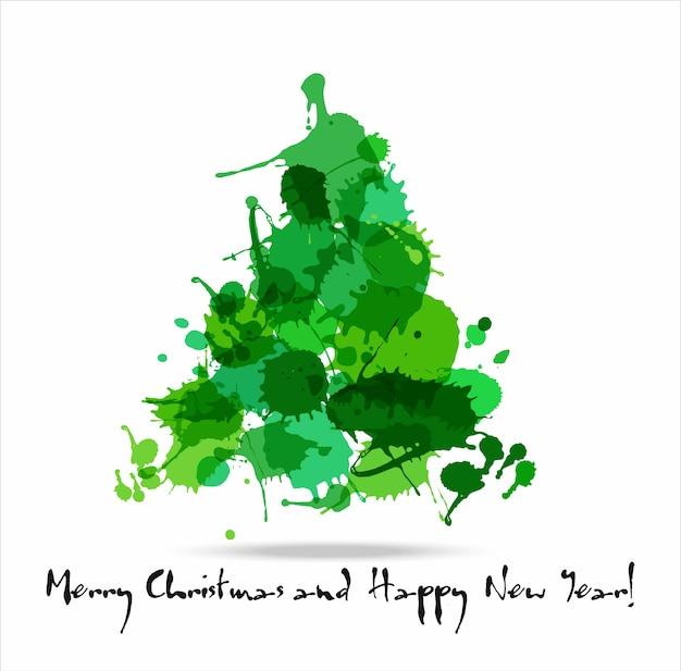 Tree blots christmas decoration Vetor Premium