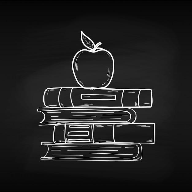 Treinamento. dia mundial do livro. abril. conhecimento. leitura. mundo. para o seu design. folha. placa de giz. escola. Vetor Premium