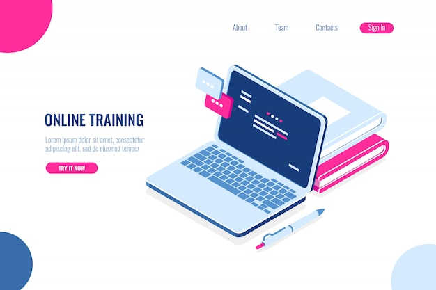 Treinamento on-line Vetor grátis