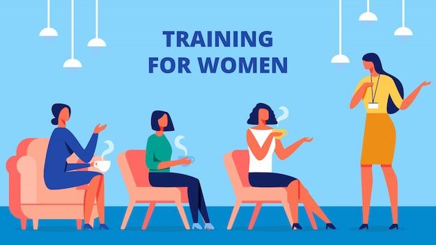 Treinamento para mulheres. treinador se comunica com o cliente. Vetor Premium