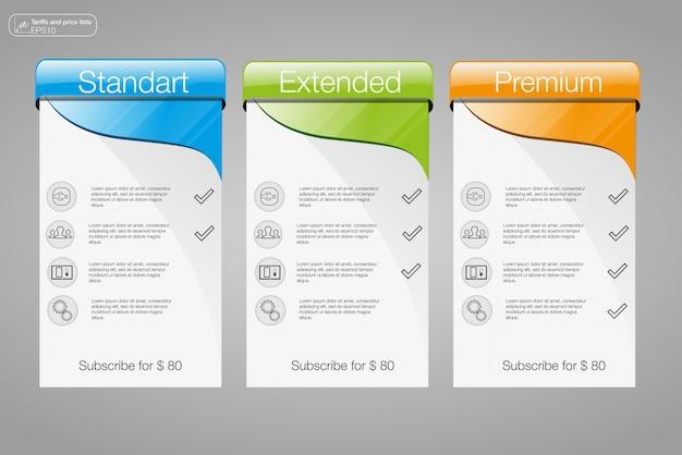 Três banner Vetor Premium