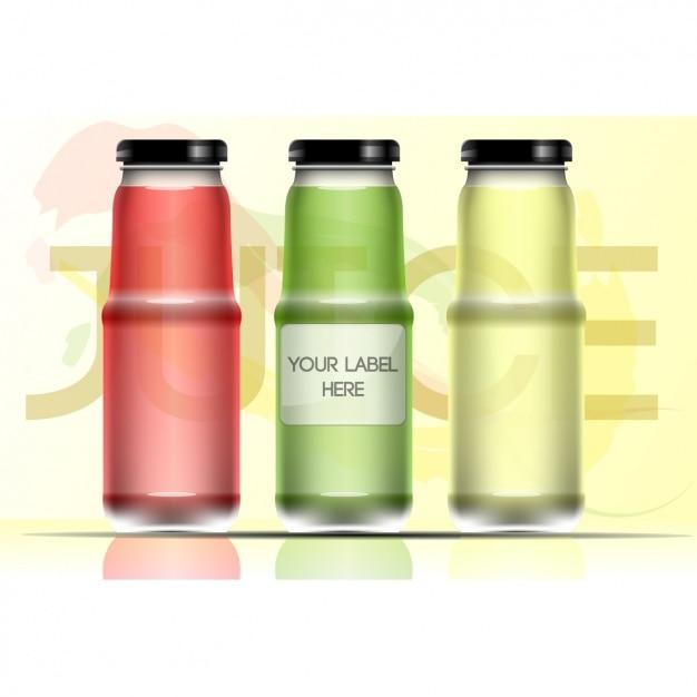 Três frascos de vidro Vetor grátis